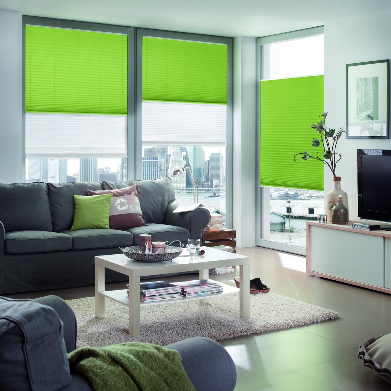 Store plissé vert